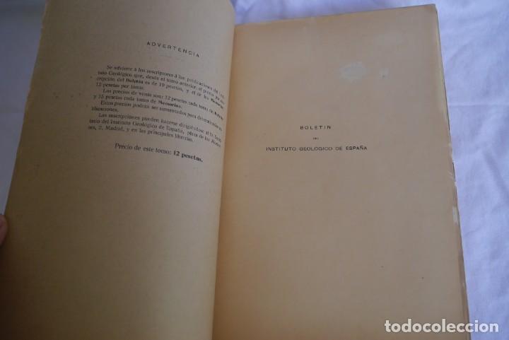 Libros antiguos: Boletín del Instituto Geológico de España Intonso Tomo XIV 1914 - Foto 5 - 277622158