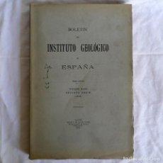 Libros antiguos: BOLETÍN DEL INSTITUTO GEOLÓGICO DE ESPAÑA INTONSO TOMO XIII 1913. Lote 277622328