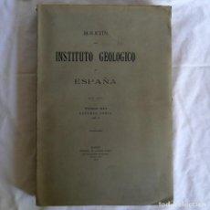 Libros antiguos: BOLETÍN DEL INSTITUTO GEOLÓGICO DE ESPAÑA INTONSO TOMO XI 1912. Lote 277622478