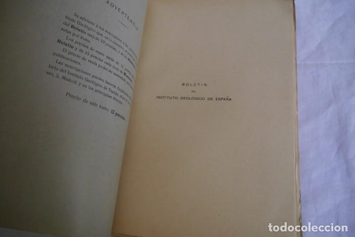 Libros antiguos: Boletín del Instituto Geológico de España Intonso Tomo XI 1912 - Foto 5 - 277622478