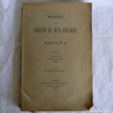 Libros antiguos: BOLETÍN DE LA COMISIÓN DEL MAPA GEOLÓGICO DE ESPAÑA, INTONSO,TOMO XXX CUADERNO 2 1910. Lote 277622823