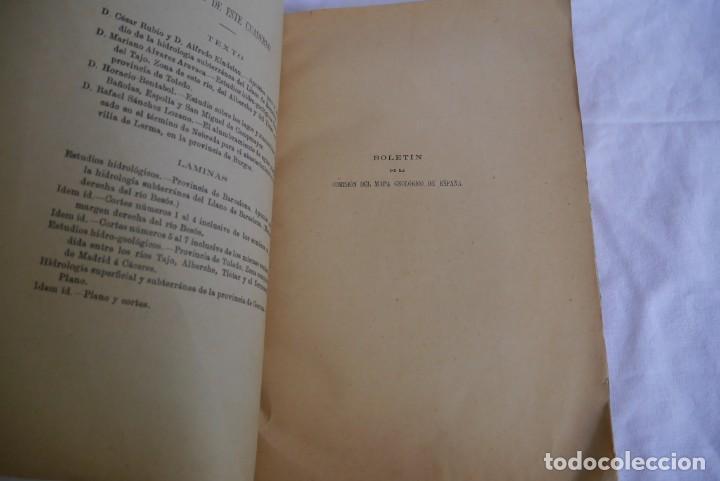 Libros antiguos: Boletín de la Comisión del Mapa Geológico de España, intonso,Tomo XXX Cuaderno 2 1910 - Foto 5 - 277622823