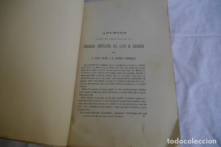 Libros antiguos: Boletín de la Comisión del Mapa Geológico de España, intonso,Tomo XXX Cuaderno 2 1910 - Foto 6 - 277622823