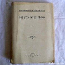 Libros antiguos: BOLETÍN DE SONDEOS, INSTITUTO GEOLÓGICO Y MINERO DE ESPAÑA, 1932, TOMO III. Lote 277623213