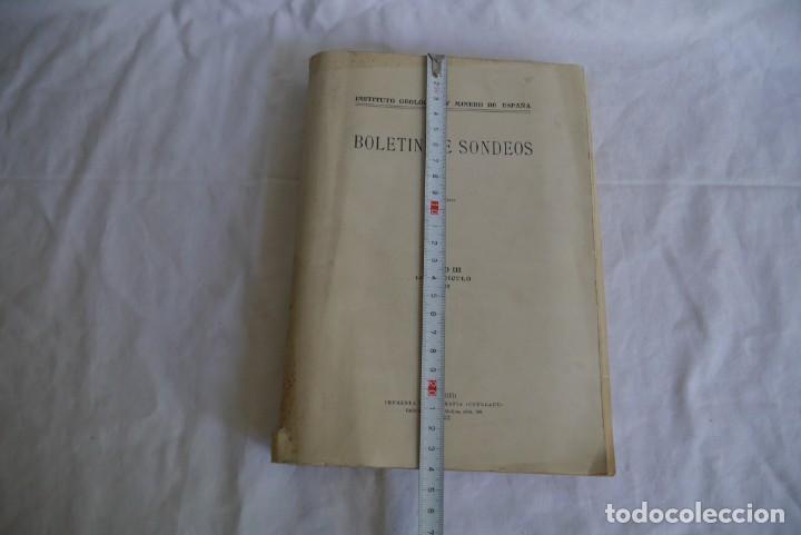 Libros antiguos: Boletín de Sondeos, Instituto Geológico y Minero de España, 1932, Tomo III - Foto 4 - 277623213