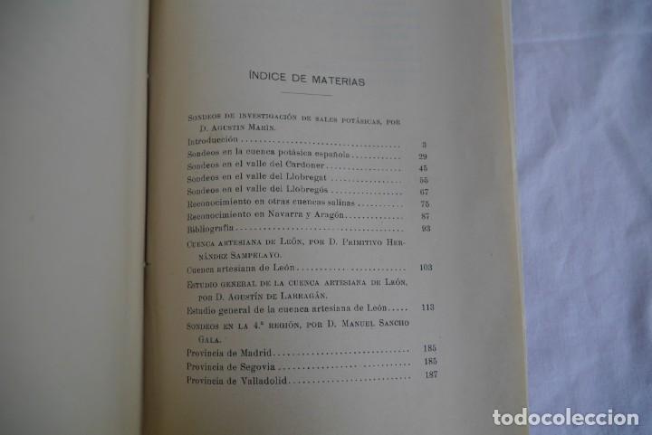 Libros antiguos: Boletín de Sondeos, Instituto Geológico y Minero de España, 1932, Tomo III - Foto 6 - 277623213