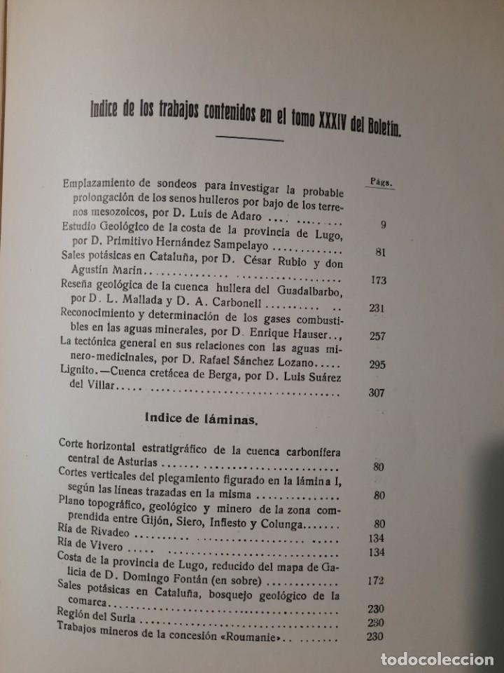 Libros antiguos: Boletín del Instituto Geológico de España Intonso Tomo XIV 1914 - Foto 17 - 277622158