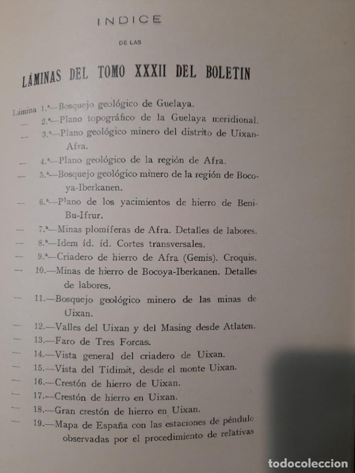 Libros antiguos: Boletín del Instituto Geológico de España Intonso Tomo XI 1912 - Foto 17 - 277622478