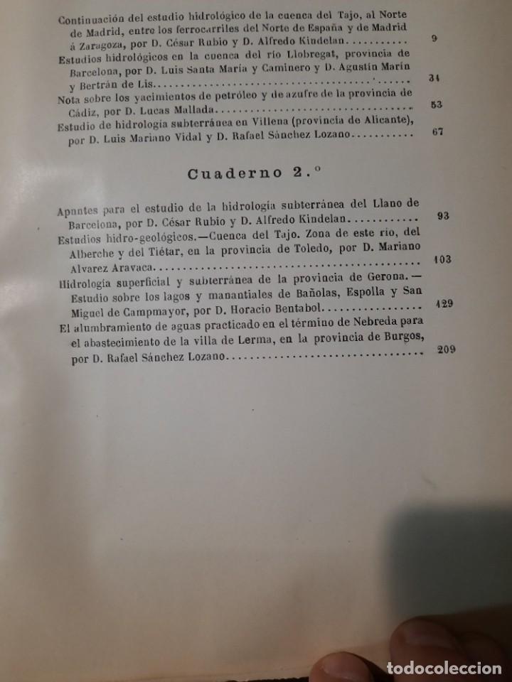 Libros antiguos: Boletín de la Comisión del Mapa Geológico de España, intonso,Tomo XXX Cuaderno 2 1910 - Foto 17 - 277622823