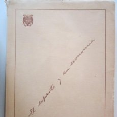 Libros antiguos: MAGNIFICO LIBRO SOBRE EL ESPARTO, HECHO EN PAPEL DE ESPARO UNICO 1950. Lote 278757178