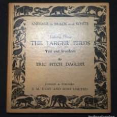 Libros antiguos: ANIMALS IN BLACK AND WHITE - THE LARGER BIRDS - ERIC FITCH DAGLISH. Lote 278972008