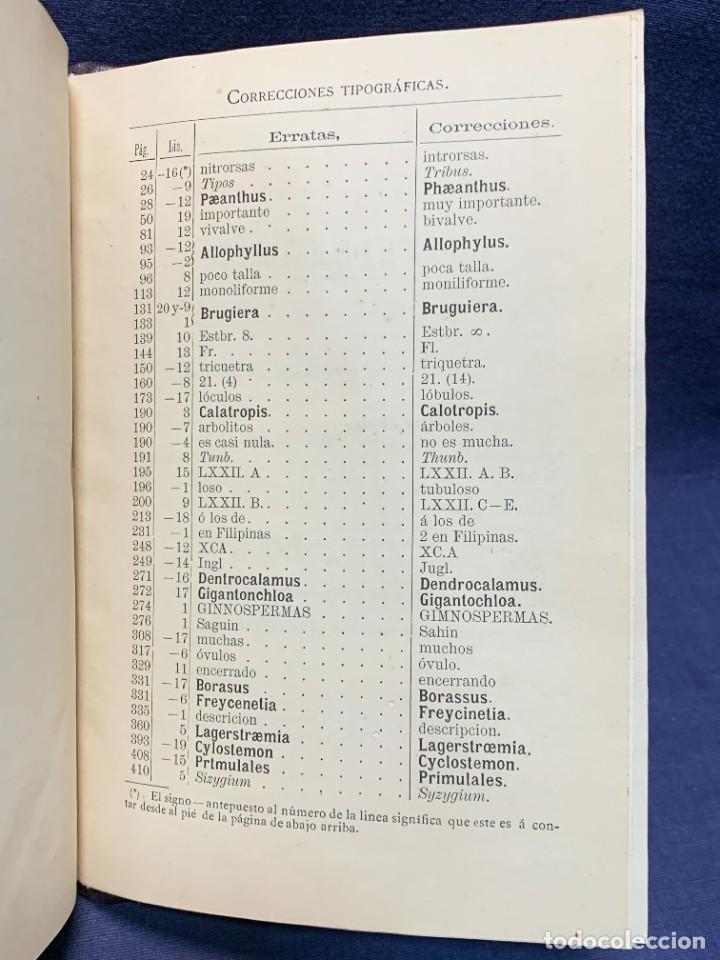 Libros antiguos: LIBRO GENEROS PLANTAS LEÑOSAS DE FILIPINAS SEBASTIAN VIDAL Y SOLER 1883 FIRMADO 22X16CMS - Foto 15 - 281035433