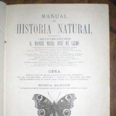 Libros antiguos: GALDO: MANUAL DE HISTORIA NATURAL. 1888. Lote 53551830