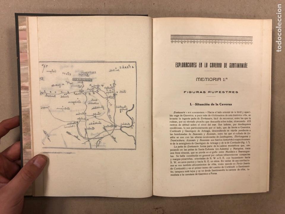 Libros antiguos: EXPLORACIÓN DE LA CAVERNA DE SANTIMAMIÑE. TELESFORO DE ARANZADI, J.M. BARANDIARAN Y ENRIQUE DE EGURE - Foto 6 - 285289668