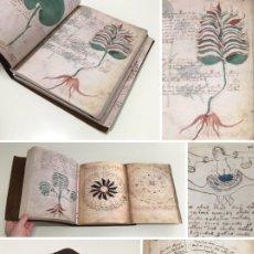 Libros antiguos: AÑO 1404-1438 - EL MANUSCRITO VOYNICH - HERBARIO - ASTRONOMÍA - BIOLOGÍA - FARMACÉUTICA - RECETAS.. Lote 286202453