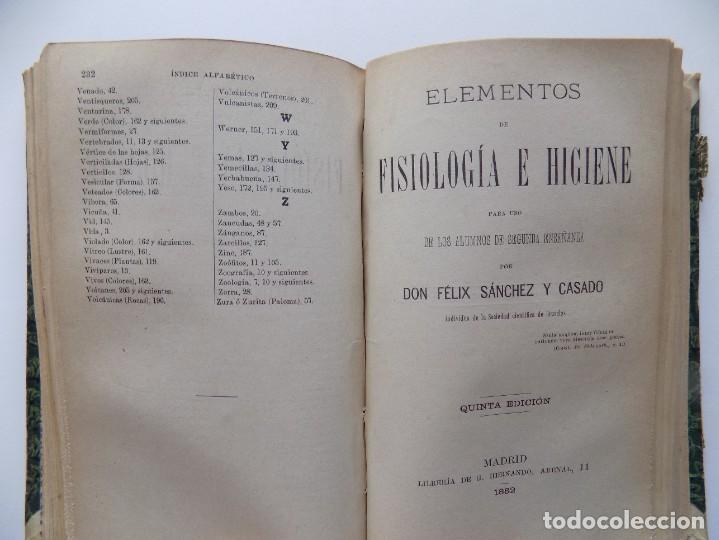 Libros antiguos: LIBRERIA GHOTICA. FELIX SANCHEZ. ELEMENTOS DE HISTORIA NATURAL.1882. / ELEMENTOS FISIOLOGIA.GRABADOS - Foto 10 - 288035903
