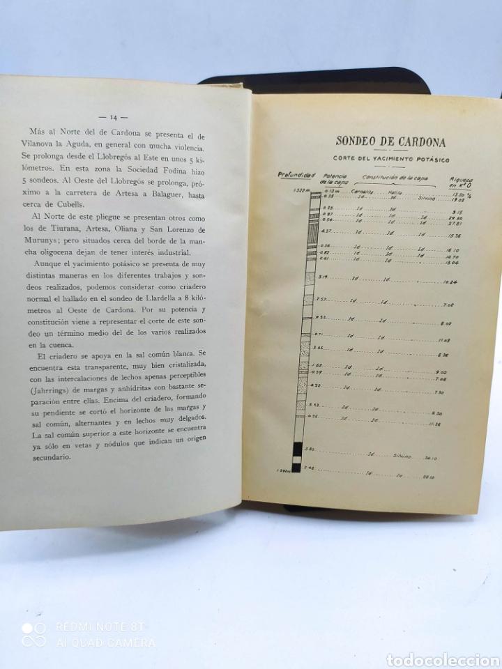 Libros antiguos: Cataluña Cuenca potasica Cretacea de Berga Región volcánica de Olot 1926 - Foto 4 - 288066898