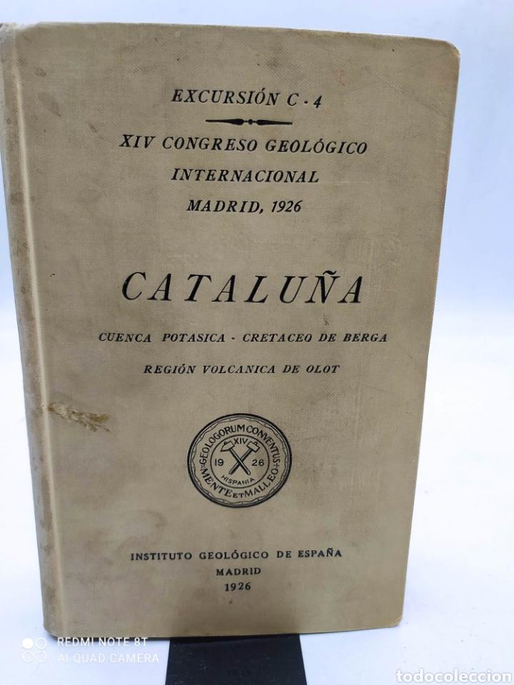 CATALUÑA CUENCA POTASICA CRETACEA DE BERGA REGIÓN VOLCÁNICA DE OLOT 1926 (Libros Antiguos, Raros y Curiosos - Ciencias, Manuales y Oficios - Paleontología y Geología)