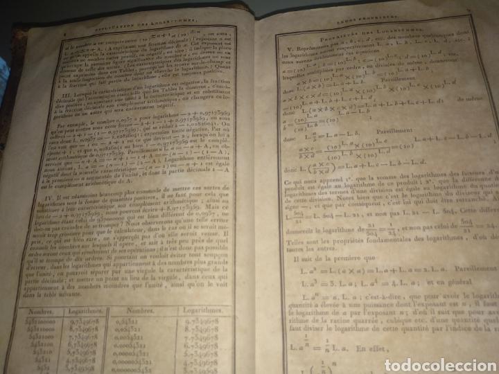 """Libros antiguos: Libro antiguo y raro de Logaritmos """"Tables Portatives de Logarithmes"""" 1829 - Foto 7 - 288385083"""