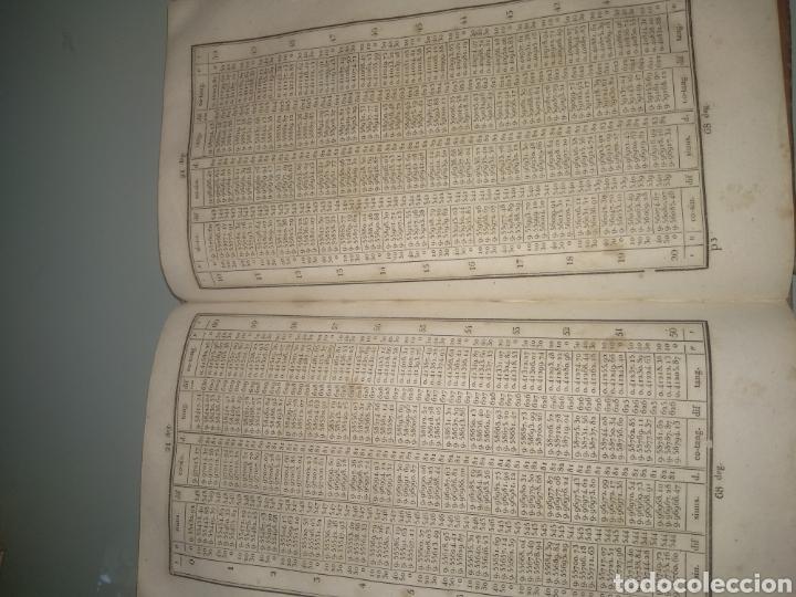 """Libros antiguos: Libro antiguo y raro de Logaritmos """"Tables Portatives de Logarithmes"""" 1829 - Foto 10 - 288385083"""
