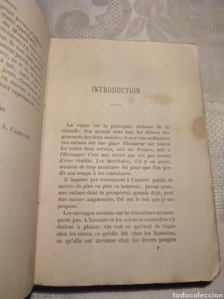 Libros antiguos: Manuel pratique de la culture de la vigne Armando Cazenave (Manual cultivo viña) - Foto 5 - 289686383
