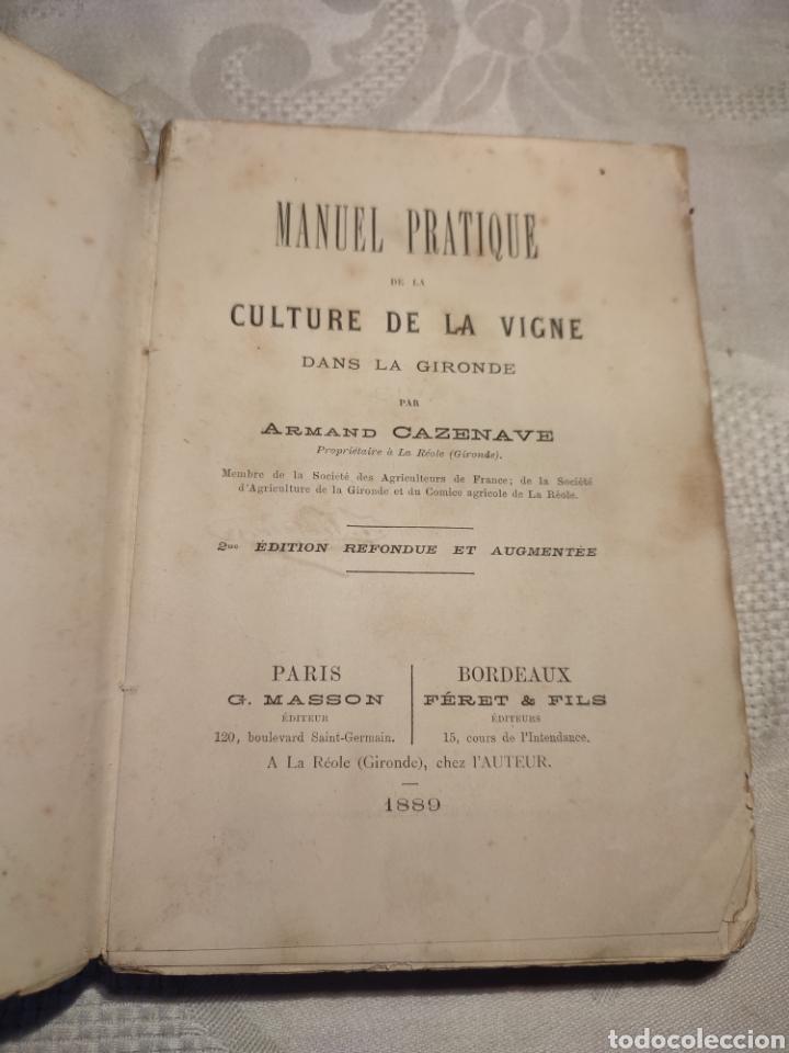 Libros antiguos: Manuel pratique de la culture de la vigne Armando Cazenave (Manual cultivo viña) - Foto 6 - 289686383