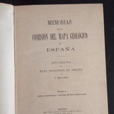Libros antiguos: MALLADA MEMORIAS DE LA COMISIÓN DEL MAPA GEOLÓGICO DE ESPAÑA GEOLOGÍA MINERALES PETROLOGÍA 1895. Lote 290087648
