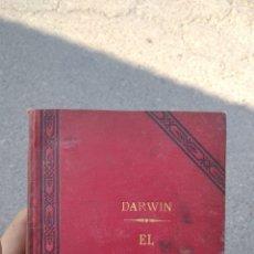 Libros antiguos: EL ORIGEN DEL HOMBRE DARWIN 1892. Lote 290712118