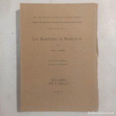 Libros antiguos: LOS MAMÍFEROS DE MARRUECOS. CABRERA, ÁNGEL. Lote 293576078
