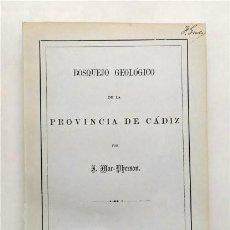 Libros antiguos: BOSQUEJO GEOLÓGICO DE LA PROVINCIA DE CÁDIZ. POR J. MAC-PHERSON. FACSÍMIL DEL ORIGINAL DE 1872. Lote 294051778