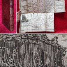 Libros antiguos: AÑO 1816 - MARAVILLAS DE LA NATURALEZA - GRAN MAPA DESPLEGABLE - GRABADOS. Lote 294076643