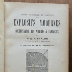 Libros antiguos: EXPLOSIFS MODERNES- PAUL F. CHALON- 1889. Lote 295282268
