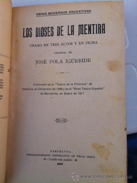 Libros antiguos: DOS TOMOS ORIGINALES AUTENTICA OBRAS DE TEATRO 1913 1917 - Foto 3 - 29330207
