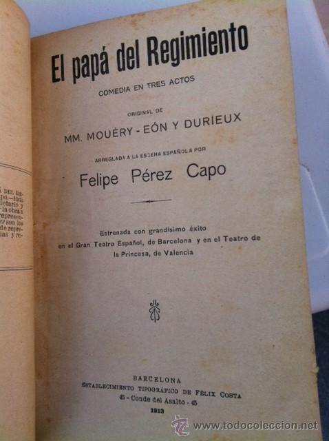 Libros antiguos: DOS TOMOS ORIGINALES AUTENTICA OBRAS DE TEATRO 1913 1917 - Foto 4 - 29330207