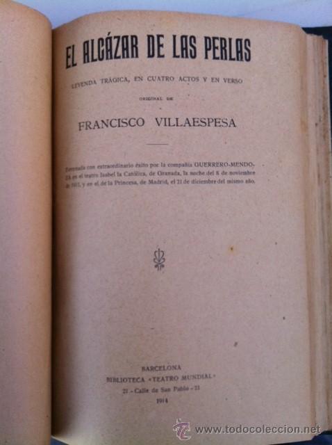 Libros antiguos: DOS TOMOS ORIGINALES AUTENTICA OBRAS DE TEATRO 1913 1917 - Foto 6 - 29330207