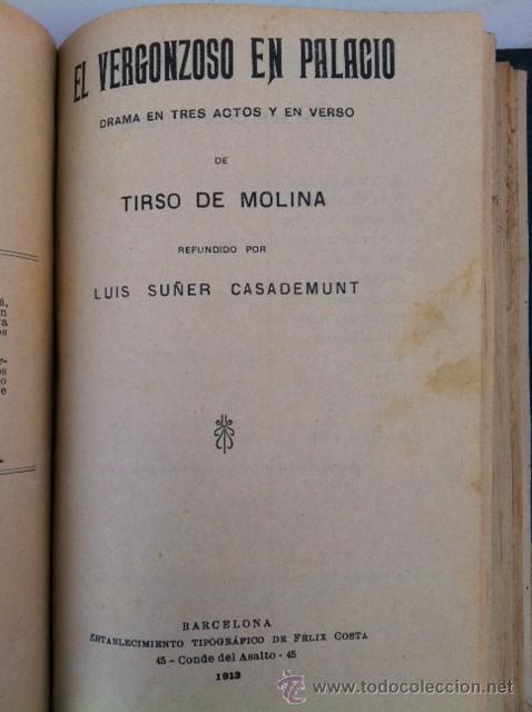 Libros antiguos: DOS TOMOS ORIGINALES AUTENTICA OBRAS DE TEATRO 1913 1917 - Foto 7 - 29330207