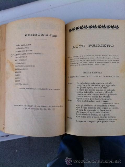 Libros antiguos: DOS TOMOS ORIGINALES AUTENTICA OBRAS DE TEATRO 1913 1917 - Foto 8 - 29330207