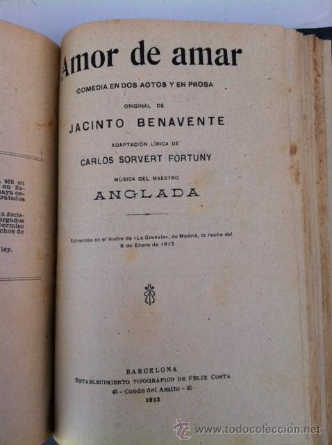 Libros antiguos: DOS TOMOS ORIGINALES AUTENTICA OBRAS DE TEATRO 1913 1917 - Foto 9 - 29330207