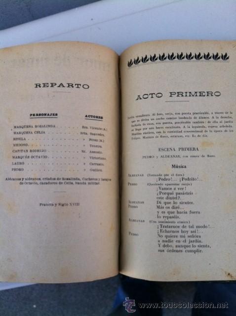 Libros antiguos: DOS TOMOS ORIGINALES AUTENTICA OBRAS DE TEATRO 1913 1917 - Foto 10 - 29330207