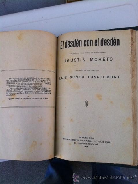 Libros antiguos: DOS TOMOS ORIGINALES AUTENTICA OBRAS DE TEATRO 1913 1917 - Foto 11 - 29330207
