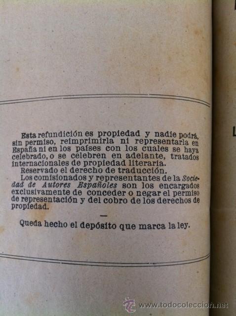 Libros antiguos: DOS TOMOS ORIGINALES AUTENTICA OBRAS DE TEATRO 1913 1917 - Foto 12 - 29330207