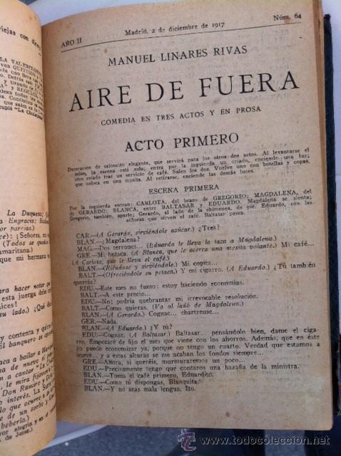 Libros antiguos: DOS TOMOS ORIGINALES AUTENTICA OBRAS DE TEATRO 1913 1917 - Foto 16 - 29330207