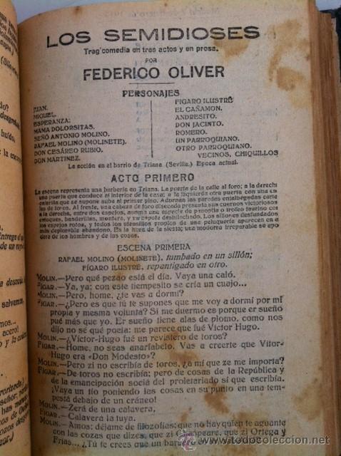 Libros antiguos: DOS TOMOS ORIGINALES AUTENTICA OBRAS DE TEATRO 1913 1917 - Foto 20 - 29330207