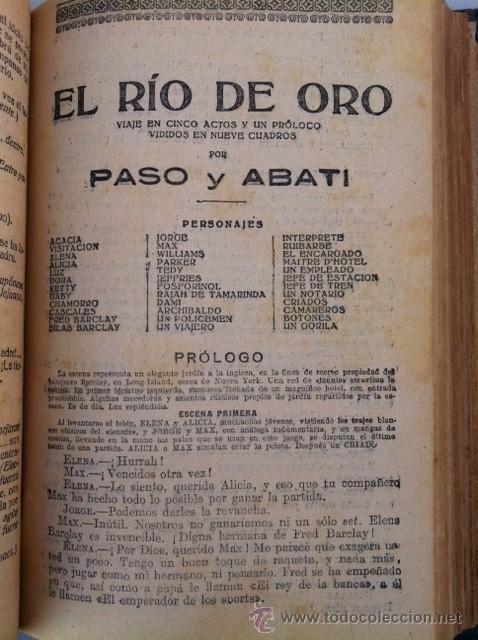 Libros antiguos: DOS TOMOS ORIGINALES AUTENTICA OBRAS DE TEATRO 1913 1917 - Foto 21 - 29330207