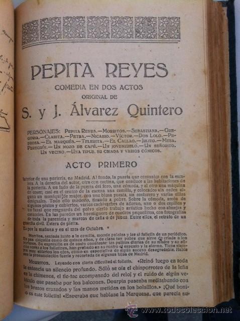 Libros antiguos: DOS TOMOS ORIGINALES AUTENTICA OBRAS DE TEATRO 1913 1917 - Foto 23 - 29330207
