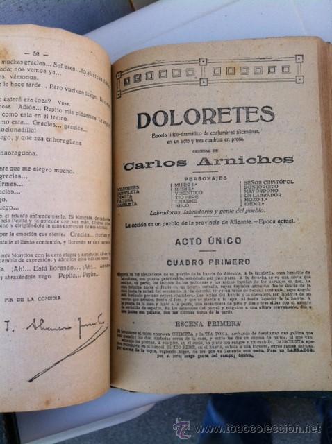 Libros antiguos: DOS TOMOS ORIGINALES AUTENTICA OBRAS DE TEATRO 1913 1917 - Foto 24 - 29330207