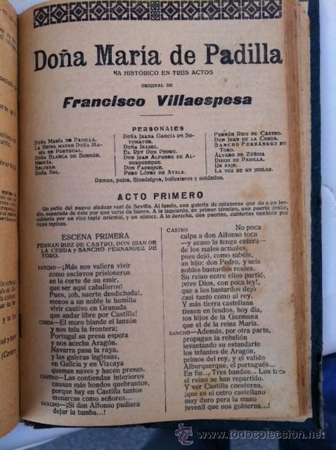 Libros antiguos: DOS TOMOS ORIGINALES AUTENTICA OBRAS DE TEATRO 1913 1917 - Foto 26 - 29330207