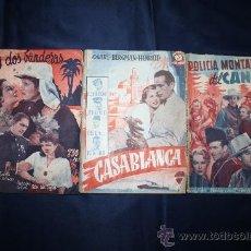 Libros antiguos: 1222- LOTE DE 3 NOVELAS CINEMATOGRÁFICAS (CASABLANCA, BAJO DOS BANDERAS, POLICIA MONTADA DE CANADA). Lote 31141358