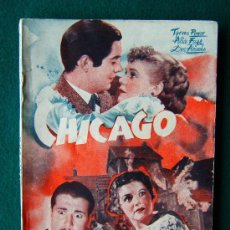 Libros antiguos: CHICAGO - HENRY KING - TYRONE POWER - EDICIONES ESPECIALES CINEMATOGRAFICAS - 1938 ? - 1ª EDICION . Lote 34858683