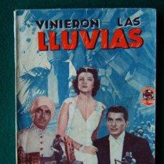 Libros antiguos: VINIERON LAS LLUVIAS - CLARENCE BROWN - TYRONE POWER - EDICIONES CINEMATOFRAFICAS - 1939 ? - 1ª EDIC. Lote 34858796